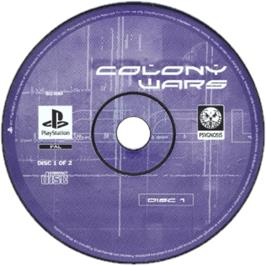 Artwork on the CD for Colony Wars: Vengeance on the Sony Playstation.