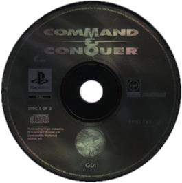Artwork on the CD for Command & Conquer on the Sony Playstation.