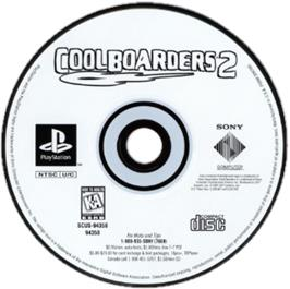 Artwork on the CD for Cool Boarders 2 on the Sony Playstation.