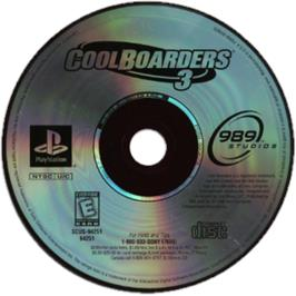 Artwork on the CD for Cool Boarders 3 on the Sony Playstation.