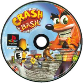 Artwork on the CD for Crash Bash on the Sony Playstation.