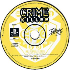 Artwork on the CD for Crime Killer on the Sony Playstation.