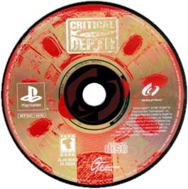 Artwork on the CD for Critical Depth on the Sony Playstation.