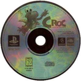Artwork on the CD for Croc: Legend of the Gobbos on the Sony Playstation.