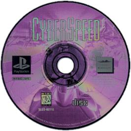Artwork on the CD for CyberSpeed on the Sony Playstation.