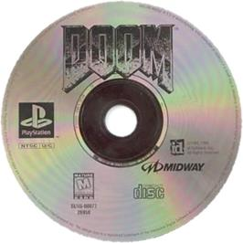 Artwork on the CD for DOOM on the Sony Playstation.