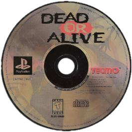Artwork on the CD for Dead or Alive on the Sony Playstation.