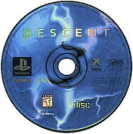 Artwork on the CD for Descent on the Sony Playstation.