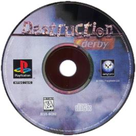 Artwork on the CD for Destruction Derby on the Sony Playstation.
