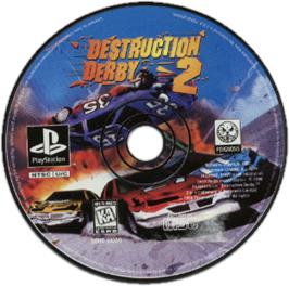 Artwork on the CD for Destruction Derby 2 on the Sony Playstation.