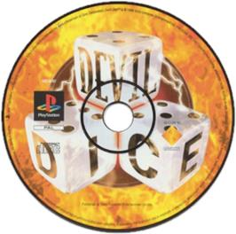 Artwork on the CD for Devil Dice on the Sony Playstation.