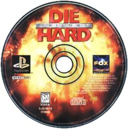 Artwork on the CD for Die Hard Trilogy on the Sony Playstation.