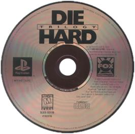 Artwork on the CD for Die Hard Trilogy 2: Viva Las Vegas on the Sony Playstation.