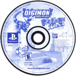 Artwork on the CD for Digimon Rumble Arena on the Sony Playstation.