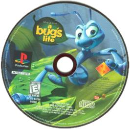 Artwork on the CD for Disney/Pixar A Bug's Life on the Sony Playstation.