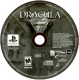 Artwork on the CD for Dracula: The Last Sanctuary on the Sony Playstation.