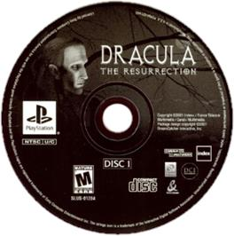 Artwork on the CD for Dracula: The Resurrection on the Sony Playstation.