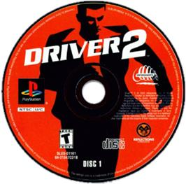 Artwork on the CD for Driver 2 on the Sony Playstation.