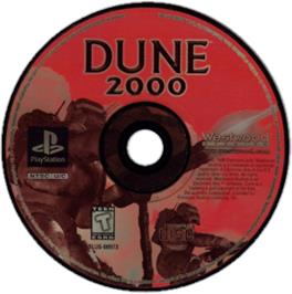 Artwork on the CD for Dune 2000 on the Sony Playstation.
