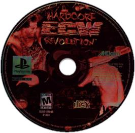 Artwork on the CD for ECW Hardcore Revolution on the Sony Playstation.