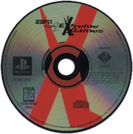 Artwork on the CD for ESPN Extreme Games on the Sony Playstation.