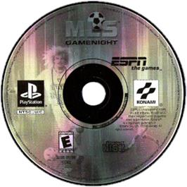 Artwork on the CD for ESPN MLS GameNight on the Sony Playstation.