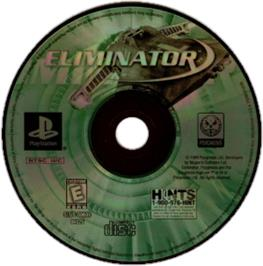 Artwork on the CD for Eliminator on the Sony Playstation.
