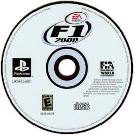 Artwork on the CD for F1 2000 on the Sony Playstation.