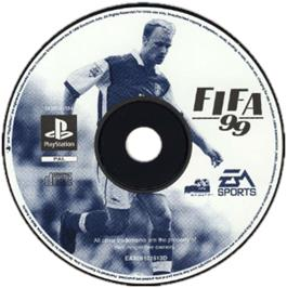 Artwork on the CD for FIFA 99 on the Sony Playstation.