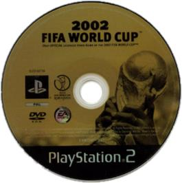 Artwork on the CD for FIFA Soccer 2002 on the Sony Playstation.