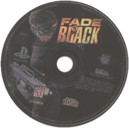 Artwork on the CD for Fade to Black on the Sony Playstation.