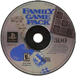 Artwork on the CD for Family Game Pack on the Sony Playstation.