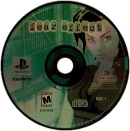 Artwork on the CD for Fear Effect on the Sony Playstation.