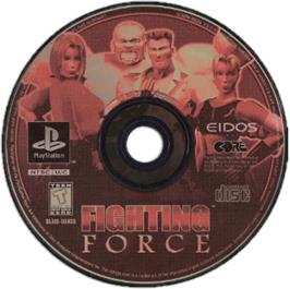Artwork on the CD for Fighting Force on the Sony Playstation.