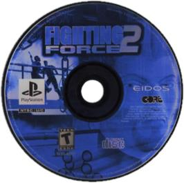 Artwork on the CD for Fighting Force 2 on the Sony Playstation.