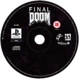 Artwork on the CD for Final DOOM on the Sony Playstation.