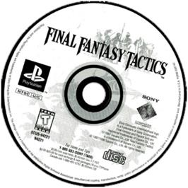 Artwork on the CD for Final Fantasy Tactics on the Sony Playstation.