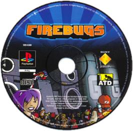 Artwork on the CD for Firebugs on the Sony Playstation.