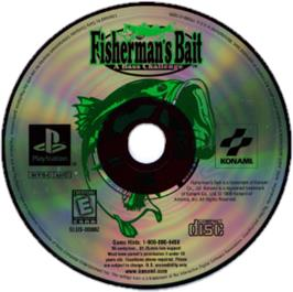 Artwork on the CD for Fisherman's Bait: A Bass Challenge on the Sony Playstation.