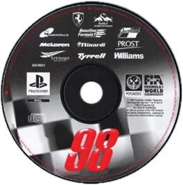 Artwork on the CD for Formula 1 '98 on the Sony Playstation.
