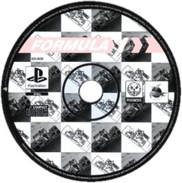 Artwork on the CD for Formula 1 on the Sony Playstation.