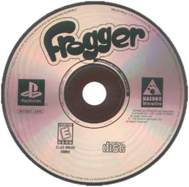 Artwork on the CD for Frogger on the Sony Playstation.