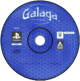 Artwork on the CD for Galaga: Destination Earth on the Sony Playstation.