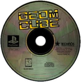 Artwork on the CD for Geom Cube on the Sony Playstation.