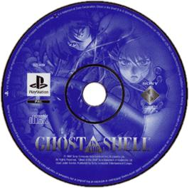 Artwork on the CD for Ghost in the Shell on the Sony Playstation.