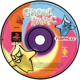 Artwork on the CD for Ghoul Panic on the Sony Playstation.