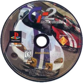 Artwork on the CD for Gran Turismo 2 on the Sony Playstation.