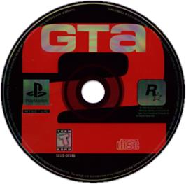 Artwork on the CD for Grand Theft Auto 2 on the Sony Playstation.