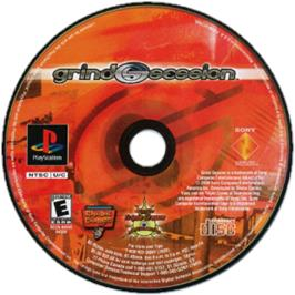 Artwork on the CD for Grind Session on the Sony Playstation.