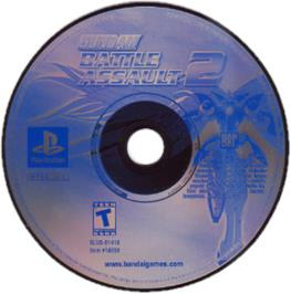 Artwork on the CD for Gundam Battle Assault 2 on the Sony Playstation.